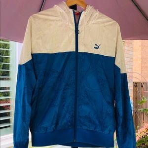 Sale! PUMA Limited Edition windbreaker blue &white